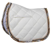 HARRYS HORSE LEOPARD TRIM SADDLE PAD - RRP £37.95